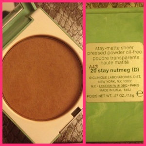 1. Clinique Stay-Matte Sheer Pressed Powder