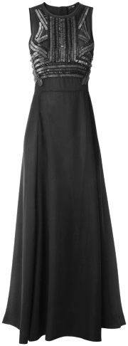 For a more formal affair, go with this hugging bodice and flowey skirt for $69.95