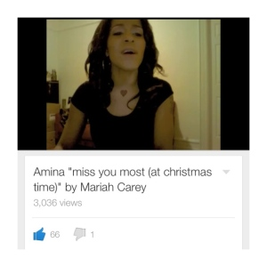 The Mariah Carey Chirstmas cover I mentioned earlier! Click to listen.
