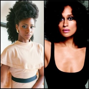 L: Teyonah Parris, R: Tracee Ellis Ross. photo cred: @TeyonahParris & @TraceeEllisRoss on Twitter