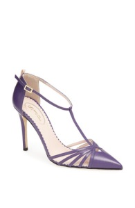 """Carrie"" pump in purple"