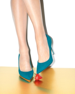 """Fawn"" pump in teal"