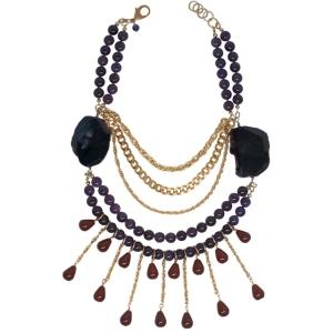"""Purple Aura Jewels """"Orchid Reign"""" necklace"""