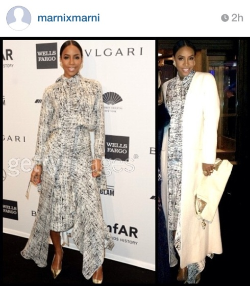 full shot of the top pic. her attire last night at the amFAR Gala.