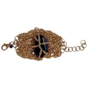 "Purple Aura Jewels ""Gold Dynasty"" bracelet"