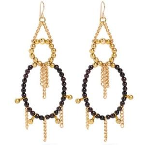 """Purple Aura Jewels """"Luna"""" earrings"""