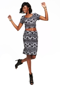 Material Girl: Atzec Top, $24. Skirt, $32