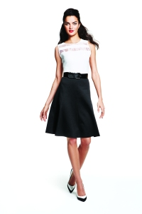 Alfani: Blouse, $59.50. Skirt, $59.50