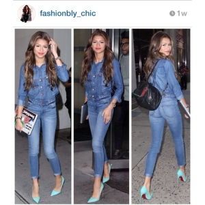 Matchy Matchy: Zendaya does head-to-toe denim!